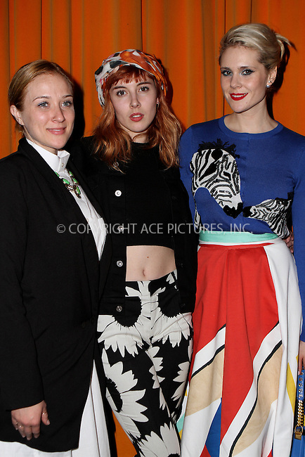 WWW.ACEPIXS.COM<br /> <br /> February 16, 2015 New York City<br /> <br /> Kate Nash (R) at the alice + olivia by Stacey Bendet fashion presentation on February 16, 2015 in New York City. <br /> <br /> By Line: Nancy Rivera/ACE Pictures<br /> <br /> <br /> ACE Pictures, Inc.<br /> tel: 646 769 0430<br /> Email: info@acepixs.com<br /> www.acepixs.com