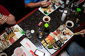 Boatloads of sushi, Sushi Challenge at Kanki Japanese House of Steaks and Sushi, Durham, NC, March 19, 2012.
