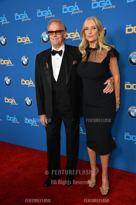 Peter Fonda & Margaret (Parky) DeVogelaere at the 70th Annual Directors Guild Awards at the Beverly Hilton Hotel, Beverly Hills, USA 03 Feb. 2018<br /> Picture: Paul Smith/Featureflash/SilverHub 0208 004 5359 sales@silverhubmedia.com