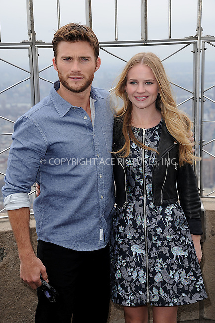 WWW.ACEPIXS.COM<br /> April 9, 2015 New York City<br /> <br /> Scott Eastwood and Britt Robertson from the movie &quot;The Longest Ride&quot; at the Empire State Building observatory on April 9, 2015 in New York City. <br /> <br /> By Line: Kristin Callahan/ACE Pictures<br /> ACE Pictures, Inc.<br /> tel: 646 769 0430<br /> Email: info@acepixs.com<br /> www.acepixs.com