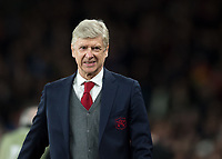 Arsene Wenger manager of Arsenal before the UEFA Europa League round of 16 2nd leg match between Arsenal and AC Milan at the Emirates Stadium, London, England on 15 March 2018. Photo by Vince  Mignott / PRiME Media Images.