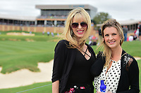 Two avid golf fans enjoy their afternoon along 18 during round 3 of the Valero Texas Open, AT&amp;T Oaks Course, TPC San Antonio, San Antonio, Texas, USA. 4/22/2017.<br /> Picture: Golffile | Ken Murray<br /> <br /> <br /> All photo usage must carry mandatory copyright credit (&copy; Golffile | Ken Murray)
