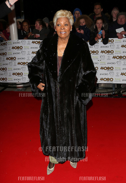 Dionne Warwick arriving for The MOBO awards 2012 held at the Echo Arena, Liverpool. 03/11/2012 Picture by: Henry Harris / Featureflash
