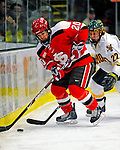 3 January 2009: St. Lawrence Saints' forward Casey Parenteau, a Senior from White Bear Lake, MN, in action against the University of Vermont Catamounts during the championship game of the Catamount Cup Ice Hockey Tournament at Gutterson Fieldhouse in Burlington, Vermont. The Cats defeated the Saints 4-0 and won the tournament for the second time since its inception in 2005...Mandatory Photo Credit: Ed Wolfstein Photo