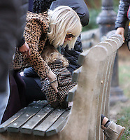 NEW YORK, NY November 07: Cate Blanchett, and daughter Edith Upton on the set of Ocean 8 in Central Park New York .November 07, 2016. Credit: RW/MediaPunch