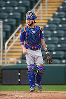 St. Lucie Mets catcher Tomas Nido (7) during a game against the Fort Myers Miracle on August 9, 2016 at Hammond Stadium in Fort Myers, Florida.  St. Lucie defeated Fort Myers 1-0.  (Mike Janes/Four Seam Images)