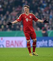 FUSSBALL  DFB-POKAL  VIERTELFINALE  SAISON 2012/2013    FC Bayern Muenchen - Borussia Dortmund          27.02.2013 Bastian Schweinsteiger (FC Bayern Muenchen)