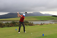 Anto Browne (Westport) on the 15th during the Final of the Junior Cup in the AIG Cups & Shields Connacht Finals 2019 in Westport Golf Club, Westport, Co. Mayo on Thursday 8th August 2019.<br /> <br /> Picture:  Thos Caffrey / www.golffile.ie<br /> <br /> All photos usage must carry mandatory copyright credit (© Golffile | Thos Caffrey)
