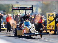 Sep 30, 2017; Madison , IL, USA; NHRA top fuel driver Leah Pritchett during qualifying for the Midwest Nationals at Gateway Motorsports Park. Mandatory Credit: Mark J. Rebilas-USA TODAY Sports