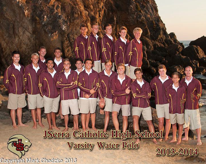 JSerra Catholic High School 2013 Varsity Water Polo Team.