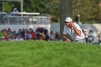 Jason Day (AUS) lines up his putt on 18 during 4th round of the World Golf Championships - Bridgestone Invitational, at the Firestone Country Club, Akron, Ohio. 8/5/2018.<br /> Picture: Golffile | Ken Murray<br /> <br /> <br /> All photo usage must carry mandatory copyright credit (© Golffile | Ken Murray)