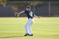 Logan Erickson (49), from Polson, Montana, while playing for the Padres during the Under Armour Baseball Factory Recruiting Classic at Gene Autry Park on December 27, 2017 in Mesa, Arizona. (Zachary Lucy/Four Seam Images)