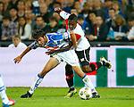 Nederland, Rotterdam, 15 september 2012.Eredivisie.Seizoen 2012-2013.Feyenoord-PEC Zwolle.Bram van Polen (l.) van PEC Zwolle en Ruben Schaken (r.) van Feyenoord strijden om de bal.