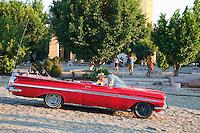 Cuba, Trinidad.  1959 Chevrolet Impala.