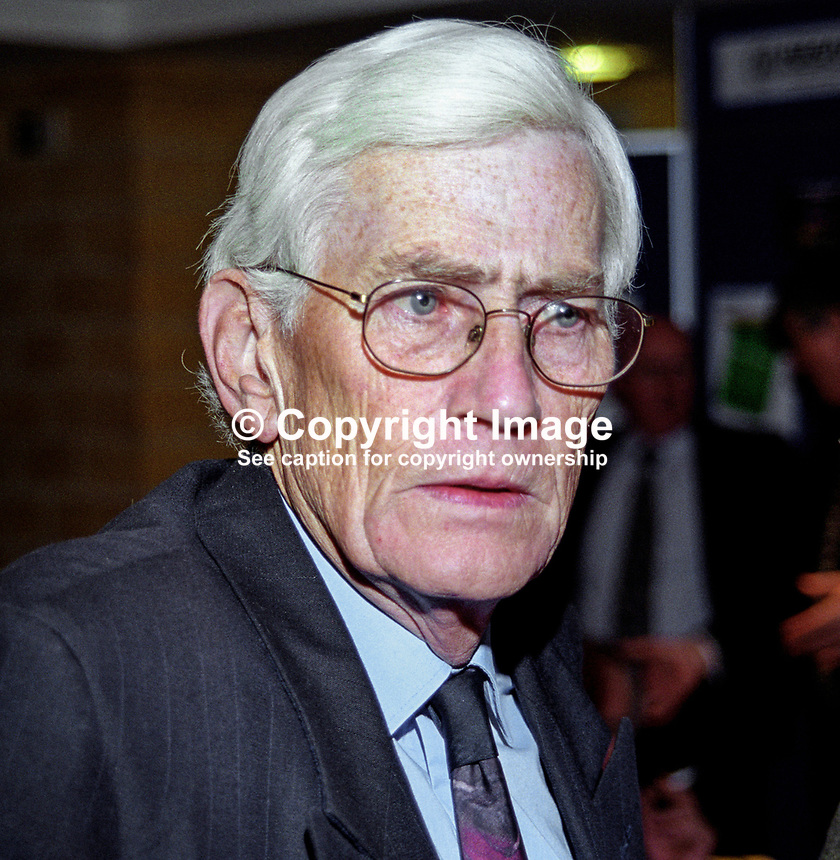Seamus Mallon, MLA, SDLP, Deputy First Minister, N Ireland Executive, 199911045.<br /> <br /> Copyright Image from Victor Patterson, 54 Dorchester Park, <br /> Belfast, UK, BT9 6RJ<br /> <br /> t1: +44 28 9066 1296 (from Rep of Ireland 048 9066 1296)<br /> t2: +44 28 9002 2446 (from Rep of Ireland 048 9002 2446)<br /> m: +44 7802 353836<br /> <br /> e: victorpatterson@me.com<br /> www.victorpatterson.com<br /> <br /> Please see my Terms and Conditions of Use at www.victorpatterson.com. It is IMPORTANT that you familiarise yourself with them.<br /> <br /> Images used on the Internet must be visibly watermarked i.e. &copy; Victor Patterson<br /> within the body of the image and copyright metadata must not be deleted. Images <br /> used on the Internet have a size restriction of 4kbs and will be chargeable at current<br />  NUJ rates unless agreed otherwise.<br /> <br /> This image is only available for the use of the download recipient i.e. television station, newspaper, magazine, book publisher, etc, and must not be passed on to any third <br /> party. It is also downloaded on condition that each and every usage is notified within 7 days to victorpatterson@me.com<br /> <br /> The right of Victor Patterson to be identified as the author is asserted in accordance with The Copyright Designs And Patents Act (1988). All moral rights are asserted.