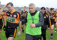 26-10-2014:  Austin Stacks manager Stephen Stack leaves the field after the Kerry senior football County Championship final at Austin Stack Park, Tralee on Sunday.  Picture: Eamonn Keogh ( MacMonagle, Killarney)
