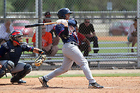 Minnesota Twins Norberto Susini #21 during a minor league spring training intrasquad game at the Lee County Sports Complex on March 25, 2012 in Fort Myers, Florida.  (Mike Janes/Four Seam Images)