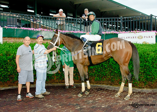 So Blessed winning at Delaware Park racetrack on 6/19/14