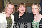 PALS: Geraldine McKenna, Margaret Culloty and Caroline Costello (Tralee) having a great time at the Shindig Ceili? Dancing Festival in the Brandon Hotel, Tralee on Friday night.   Copyright Kerry's Eye 2008