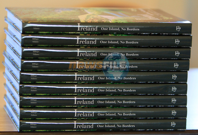during the book launch of Ireland, One Island, No Borders by Elizabeth Billups and Gerry Adams at the Drogheda Arts Centre on Friday 13th March 2015.<br /> Picture:  Thos Caffrey / www.newsfile.ie