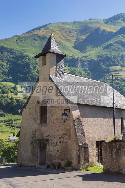 France, Pyrénées-Atlantiques (64), Béarn, vallée d'Aspe, Borce: L' Hôpital Saint-Jacques//  France, Pyrenees Atlantiques ,Bearn, Aspe Valley, Borce, Saint Jacques Hospital