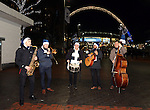 A band plays outside of Wembley during the Champions League group match at Wembley Stadium, London. Picture date December 7th, 2016 Pic David Klein/Sportimage