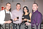 COFFEE: Drinking the Irish Coffee's In Daiites' Vanilla Restaurant, Tralee to bring inn the New Year on Friday night, L-r: Michael Safarik (Tralee), Tim and Marie Jones(Killarney)   and Ciaran Usher (Tralee)..Strand Road laundrette..... . ............................... ..........