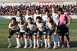 INACINAC Kobe Leonessa team group line-up,<br /> DECEMBER 23, 2013 - Football / Soccer :<br /> INAC Kobe Leonessa team group shot (Top row - L to R) Homare Sawa, Junko Kai, Ayaka Watanabe, Megumi Takase, Goebel-Yanez, Ayumi Kaihori, (Bottom row - L to R) Midori Isokane, Emi Nakajima, Yukari Kinga, Ji So-Yun and Nahomi Kawasumi before the 35th All Japan Women's Football Championship final match between INAC Kobe Leonessa 2(4-3)2 Albirex Niigata Ladies at NACK5 Stadium Omiya in Saitama, Japan. (Photo by AFLO)