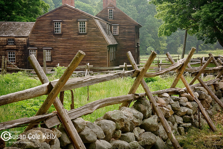 The Hartwell Tavern, a colonial site on the Battle Road, Minuteman National Park, Concord, MA