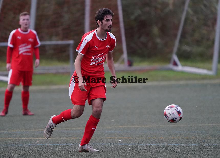 Christoph Haddad (Büttelborn) - Büttelborn 03.11.2019: SKV Büttelborn vs. SV 07 Nauheim, Gruppenliga Darmstadt