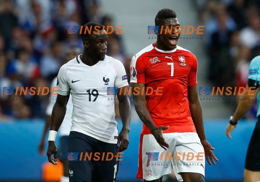 Bacary Sagna France and Breel Embolo Switzerland<br /> Lille 19-06-2016 Stade Pierre Mauroy Footballl Euro2016 Switzerland - France  / Svizzera - Francia Group Stage Group A. Foto Matteo Ciambelli / Insidefoto