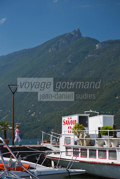 Europe/France/Rhône-Alpes/73/Savoie/Aix-les-Bains: Le Port, Les bords du Lac et la Dent du Chat