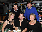 Pat, Josephine and Catherine Smith and Paul and Ainé McKiernan enjoying the new year celebrations at the Westcourt hotel. Photo: Colin Bell/pressphotos.ie