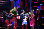 'Panic! at The Disco's' Brendon Urie makes his broadway debut as 'Charlie Price' in 'Kinky Boots' with J. Harrison Ghee and Taylor Loudermanon Broadway at The Al Hirschfeld Theatre on June 4, 2017 in New York City.
