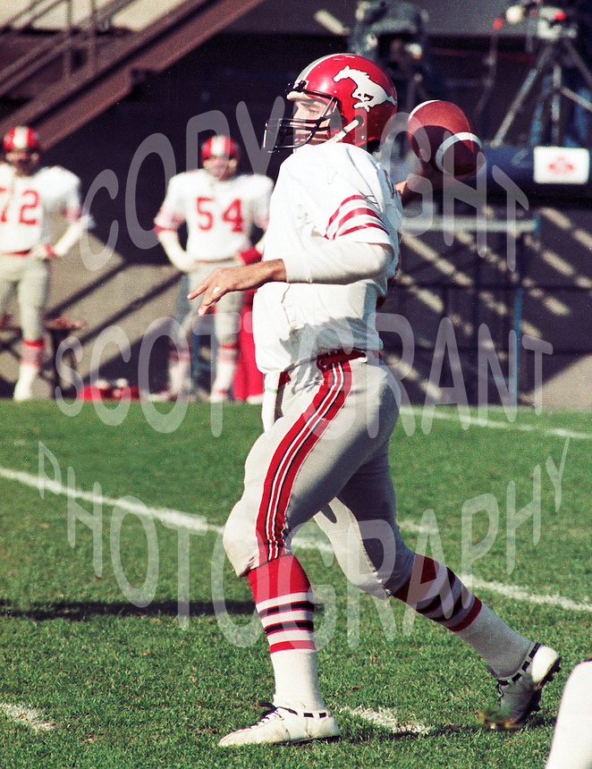 Gerry Dattilio Calgary Stampeders quarterback 1983 Copyright photograph Scott Grant