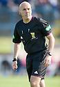 Referee Stephen Finnie ...