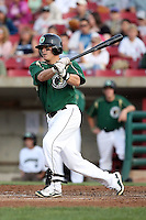 August 15 2008:  Larry Cobb of the Kane County Cougars, Class-A affiliate of the Oakland Athletics, during a game at Philip B. Elfstrom Stadium in Geneva, IL.  Photo by:  Mike Janes/Four Seam Images