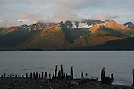 Peaks on Resurrection Peninsula near Seward