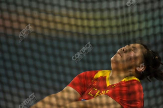 Women's Hammer Throw final, Zhang Wenxiu (China) - bronze, National Stadium, Summer Olympics, Beijing, China, August 20, 2008