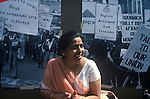 Mrs Jayaben Desai of the north London Grunwick strile at a May Day Rally central London 1977.