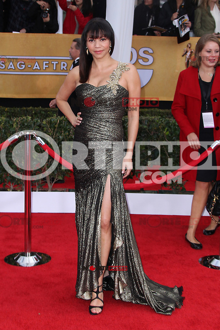 LOS ANGELES, CA - JANUARY 27: Gloria Reuben at The 19th Annual Screen Actors Guild Awards at the Los Angeles Shrine Exposition Center in Los Angeles, California. January 27, 2013. Credit: MediaPunch Inc. /NortePhoto
