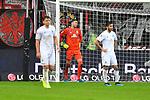06.10.2019, Commerzbankarena, Frankfurt, GER, 1. FBL, Eintracht Frankfurt vs. SV Werder Bremen, <br /> <br /> DFL REGULATIONS PROHIBIT ANY USE OF PHOTOGRAPHS AS IMAGE SEQUENCES AND/OR QUASI-VIDEO.<br /> <br /> im Bild: Frust bei Milos Veljkovic (SV Werder Bremen #13), Jiri Pavlenka (#1, SV Werder Bremen), Nuri Sahin (SV Werder Bremen #17)<br /> <br /> Foto © nordphoto / Fabisch