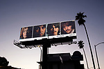 Beatles billboard promoting re-release of White album on Sunset Blvd. in Hollywood, CA