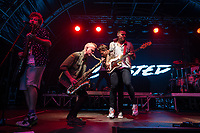 Busted performing during AmpRocks 2017, part of Ampthill Festival, at Ampthill Great Park, Ampthill, England on 30 June 2017. Photo by David Horn.