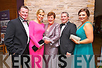Enjoying Oliver Hurley's Night at the Oscars   50th birthday celebration  at the Fels point Hotel on Friday were Sean O'Donnell, Ann O'Donnell, Irene O'Donnell, Des Hurley and Gemma Hurley.