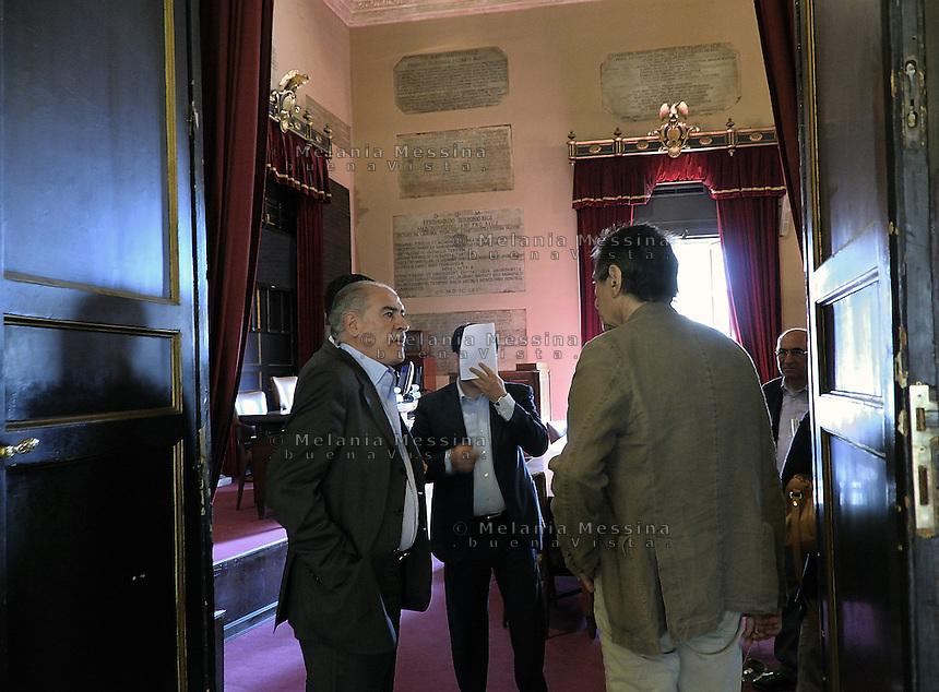 Palermo; palazzo delle aquile, consiglieri comunali