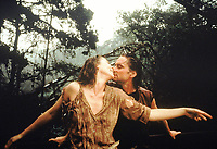 Romancing the Stone (1984) <br /> Michael Douglas &amp; Kathleen Turner<br /> *Filmstill - Editorial Use Only*<br /> CAP/KFS<br /> Image supplied by Capital Pictures