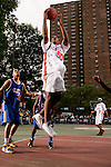 Samardo Samuels (50) goes up for a shot during the Elite 24 Hoops Classic game on September 1, 2006 held at Rucker Park in New York, New York.  The game brought together the top 24 high school basketball players in the country regardless of class or sneaker affiliation.