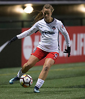 Seattle, WA - Saturday March 24, 2018: Meggie Dougherty Howard during a regular season National Women's Soccer League (NWSL) match between the Seattle Reign FC and the Washington Spirit at the UW Medicine Pitch at Memorial Stadium.