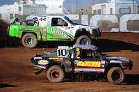 Apr 16, 2011; Surprise, AZ USA; LOORRS driver Greg Adler (10) and Jeff Geiser (44) during round 3 at Speedworld Off Road Park. Mandatory Credit: Mark J. Rebilas-